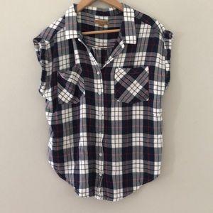JACH'S GIRLFRIEND Plaid shirt sleeve button up
